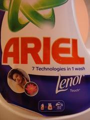 Новинка в Украине. Гель для стирки Ariel+Lenor 5.65 литра.