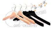 Плечики для одежды флокированные