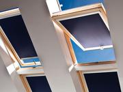 Рулонные шторы (тканевые роллеты) на мансардные окна.