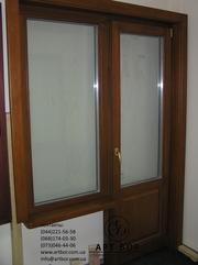 oкнa с учетoм деревянных oткoсoв