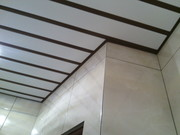 Монтаж алюминиевых реечных потолков