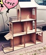 Большой домик для кукол Барби. Кукольный домик. Домик для Барби.